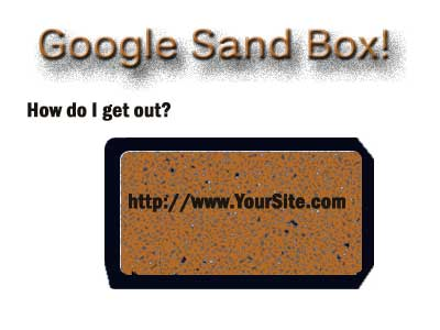 How do I get out of Google Sand Box?